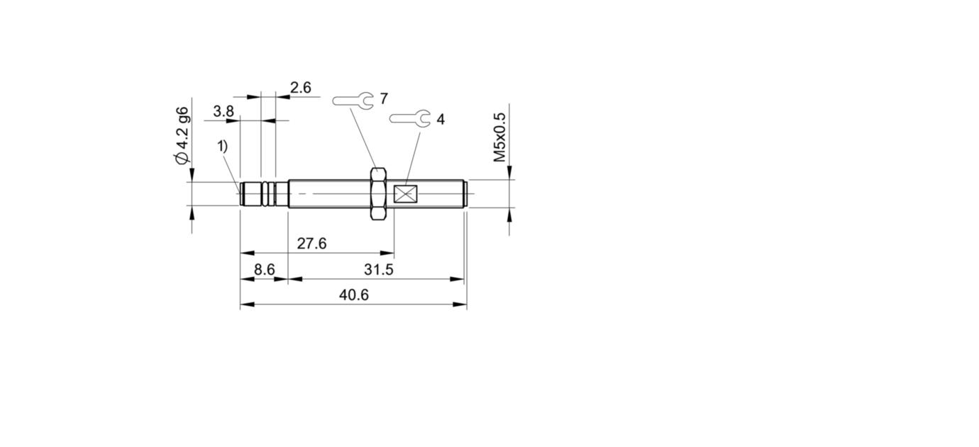 BHS G403N-POD10-S26 (BHS006P) 耐高压接近开关-尺寸图