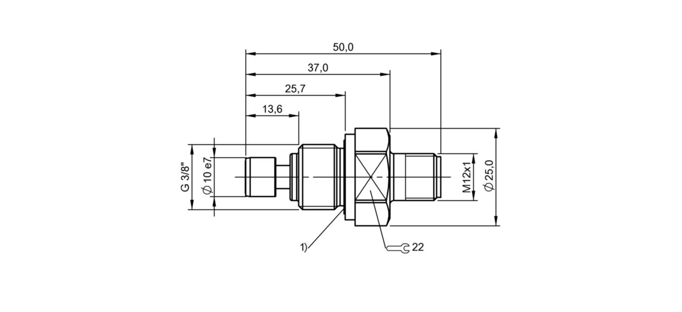 BES 516-300-S332-S4-N (BHS007A) 耐高压接近开关-尺寸图